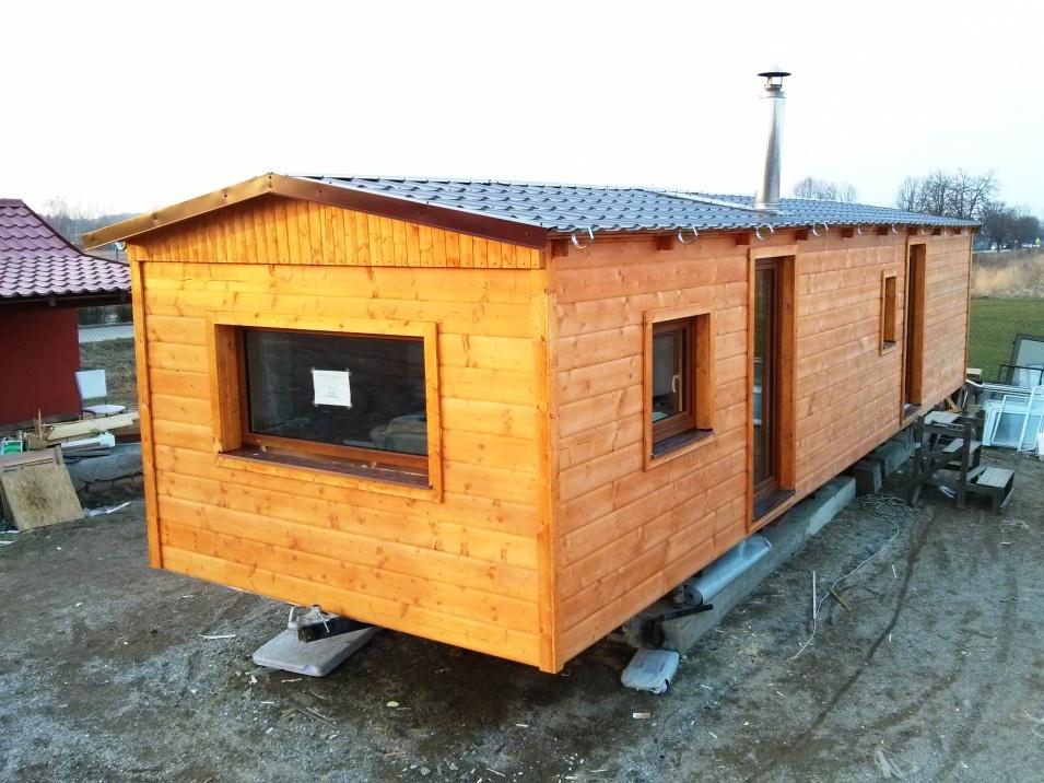 mobilní domy celoročně zateplené dřevěné