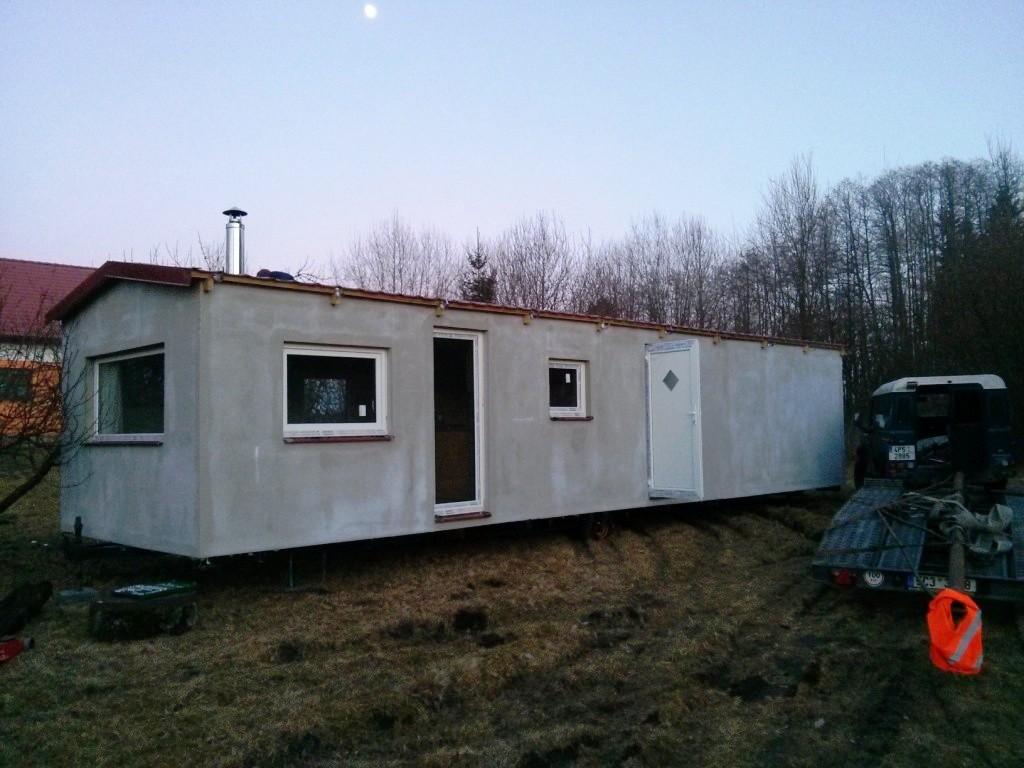 mobilní domy celoročně zateplené s fasádou
