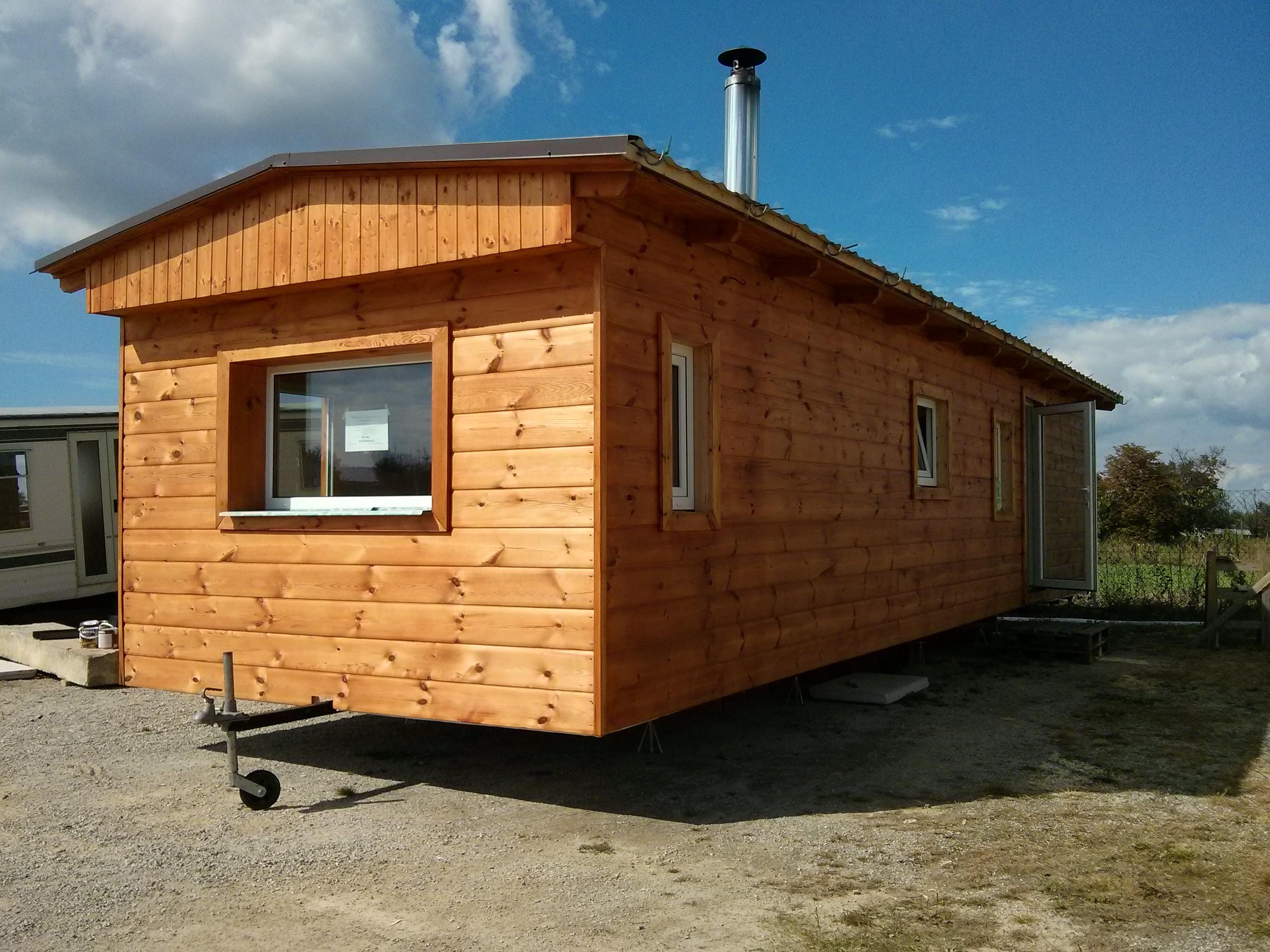 mobilní domy celoroční zateplené dřevěné