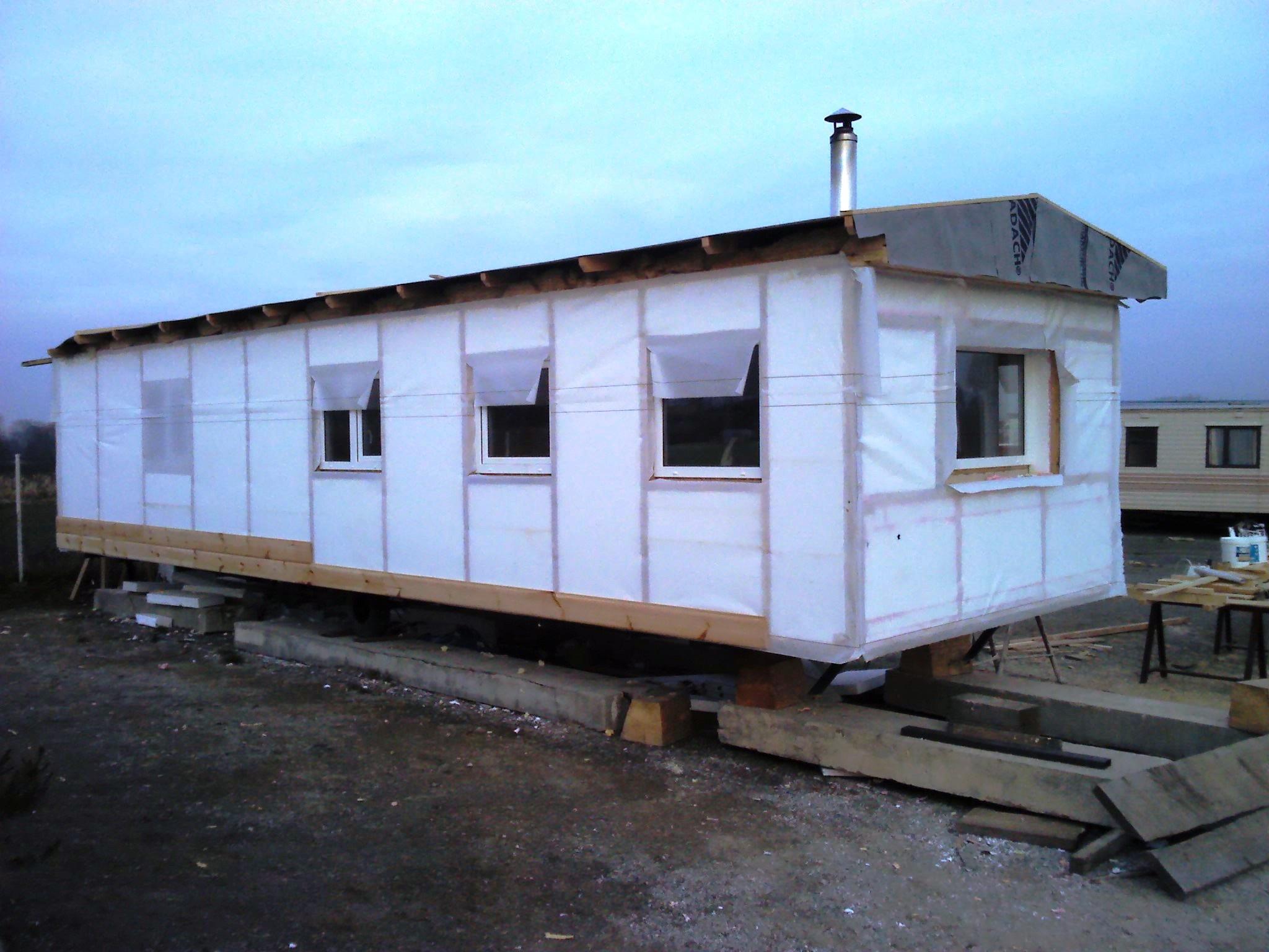 mobilní domy celoroční zateplené ve dřevě